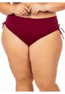 03bcb5af3852 Calcinha De Biquini Plus Hot Pant Bordo Janfer