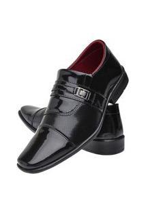 Sapato Social Masculino Bico Quadrado Verniz Leve Dia A Dia Preto 37 Preto