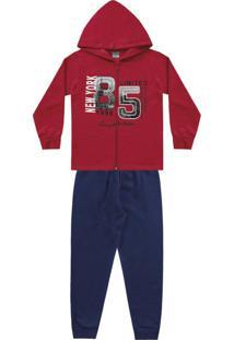 Conjunto Jaqueta Vermelha E Calça