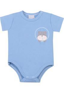 Body Em Suedine Miniclo Urso Azul