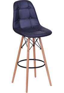 Banqueta Eames Botonê- Preta- 106X56X56Cm- Or Deor Design