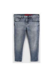 Calça Jeans Ellus Kids Infantil Estonada Azul