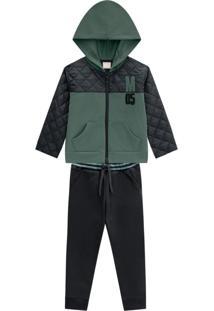 Conjunto Infantil Menino Jaqueta + Calça Milon Verde
