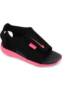 Sandália Infantil Nike Sunray Adjust 5 V2 - Masculino-Preto+Pink