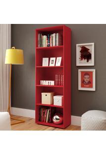 Estante Para Livros Multy 4 Prateleiras Vermelho - Artely