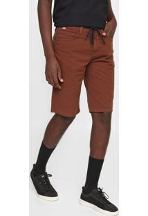 Bermuda Sarja Element Slim Color Marrom