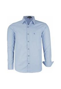 Camisa Social Comfort Amil Com Bolso Fácil De Passar 1699 Azul Bebê