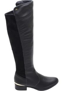 Bota Feminina Over The Knee Dakota Preta