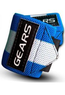 Munhequeira Wrist Wraps Azul Gears