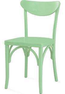 Cadeira De Madeira Moderna Amélie Laca Verde Sálvia - 44,5X45X81 Cm