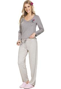 Pijama Vincullus Inverno Listra Mescla