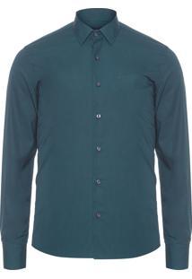 Camisa Masculina Lisa Tinturada - Verde