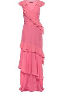 Vestido Crepe Babados Isabelli