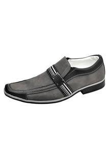 Sapato Social Novo Habito Masculino Palmilha Confort Forrado Cinza