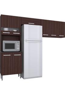 Cozinha Compacta 3 Peças Karina -Poquema - Capuccino