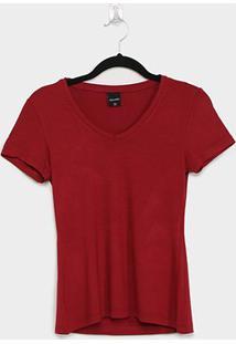 Blusa Malwee Baby Look Feminina - Feminino-Vermelho Escuro