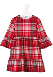 Il Gufo Vestido Xadrez - Vermelho