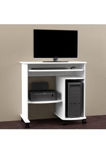 Mesa Para Computador C211 Bb Branco Brilho - Dalla Costa