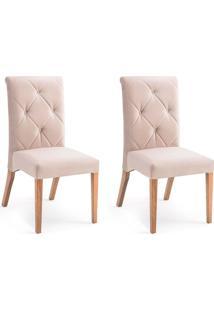 Conjunto Com 2 Cadeiras De Jantar Diamante Marrom Claro E Castanho