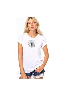 Camiseta Coolest Flor Algodao Branco