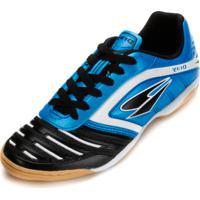 Chuteira Futsal Dray Topfly Iv Juvenil Dr18-363Co Azul Celeste-Preto 61b081ec90129