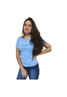 Camiseta Feminina Cellos Stretched Premium Azul Claro