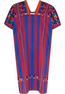 Pippa Holt Vestido Kaftan Com Bordado - Vermelho