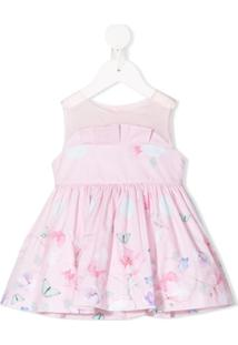 Lapin House Vestido Sem Mangas Com Recorte Translúcido - Rosa