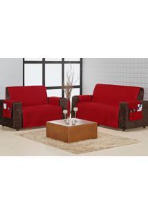 Protetor Sofa Home 3 E 2 Lugares Vermelho Enxovais Aquarela