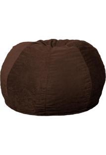Puff Confort Maçã Suede Marrom Escuro 120 Cm
