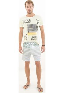 Bermuda John John D'Água Wallpaper Listrado Masculina (Listrado, 46)