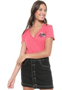 Camiseta Hurley V Aloha Vibes Rosa