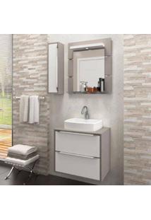 Gabinete Suspenso Para Banheiro Com Espelheira Ravena 60 Balcony Não Acompanha Cuba