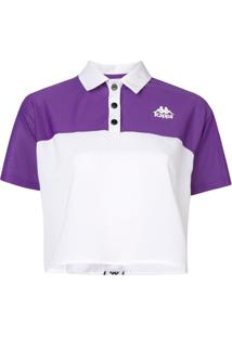Kappa Camisa Polo Color Block - Branco