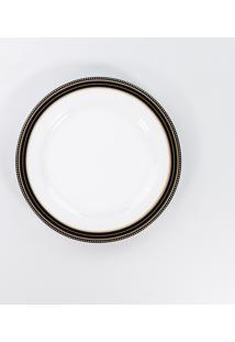 Prato Para Sobremesa 19 Cm Porcelana Schmidt - Dec. Paula Black