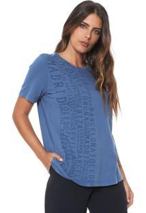 Camiseta Lança Perfume Lettering Azul