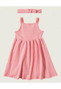 Vestido Godê Vichy Malwee Kids Rosa - 3