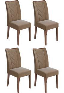 Conjunto Com 4 Cadeiras Atacama L Imbuia E Marrom