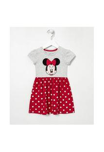 Vestido Infantil Estampa Minnie - Tam 1 A 6 Anos | Disney | Vermelho | 02