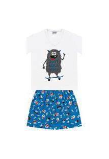 Pijama Infantil Curto Monstrinho - Fkn Sleep We