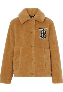 Burberry Monogram Motif Fleece Jacket - Marrom