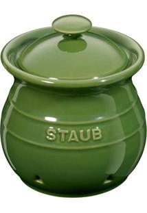 Porta Alho Cerâmica Verde Basil 11 Cm Staub