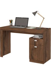 Mesa Para Computador Com 1 Porta E 1 Gaveta Melissa Fosco – Permóbili - Café