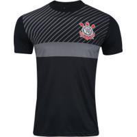e0ed037a420bb Camiseta Do Corinthians Peter - Masculina - Preto Cinza Esc