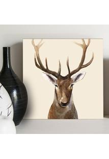 Quadro - Deer Head Watercolor