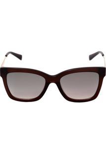 Óculos De Sol Ana Hickmann Ah9258 T01 55 Marrom E Dourado a6638ddbaf