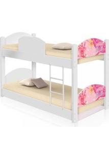 Beliche Infantil Carruagem Castelo Com 2 Colchãµes Casah - Branco/Rosa - Menina - Dafiti