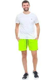 Bermuda De Praia Tactel D'Affari - Neon Masculina - Masculino-Verde Limão