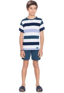 Pijama Tiago Infantil Verde Profundeza/06