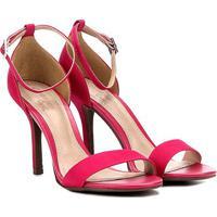 24305ed39 Sandália Dumond Salto Fino Feminina - Feminino-Pink